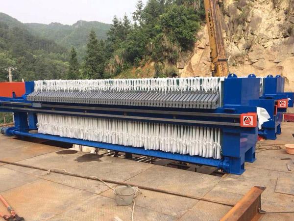 板框压滤机在矿山上应用
