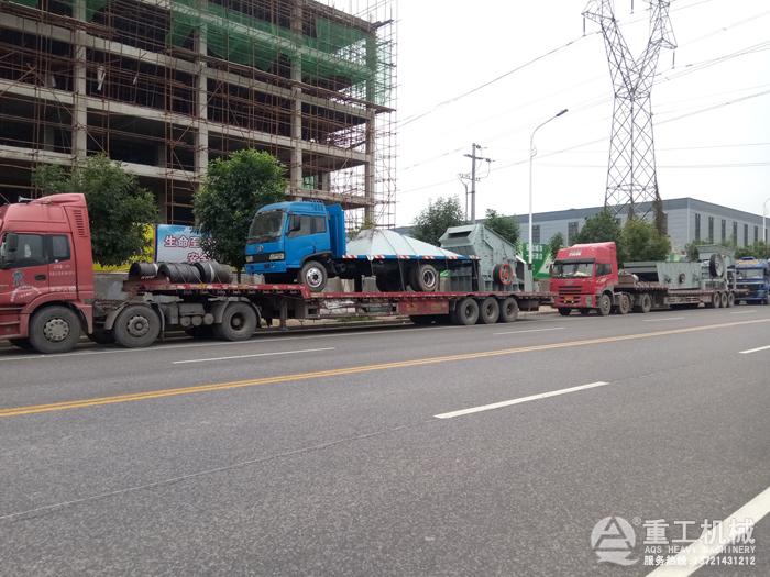 石料生产线设备发货