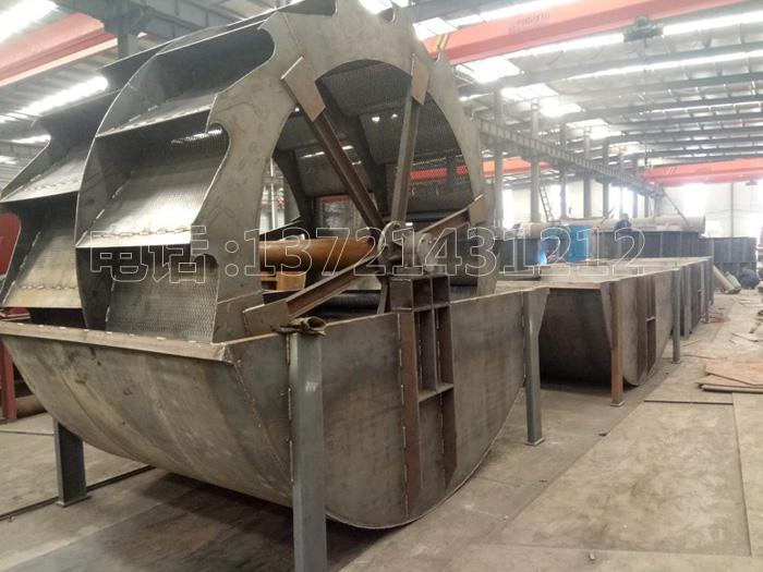 新型3018轮斗洗砂机每小时洗石粉达150吨